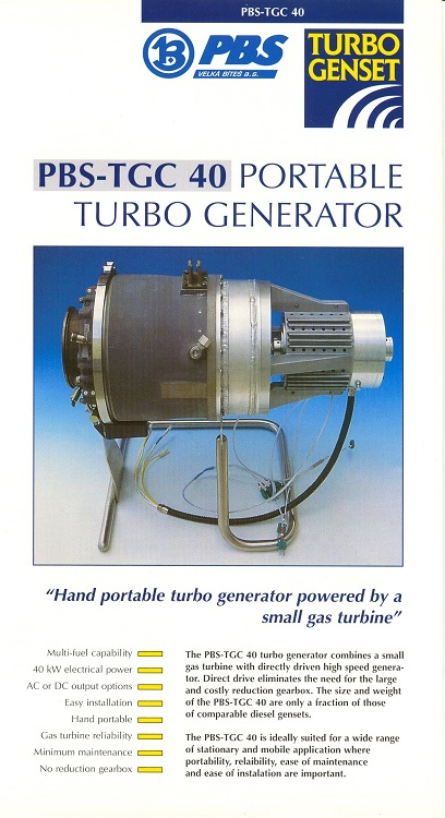 PBS-TGC 40 Portable Turbo Generator