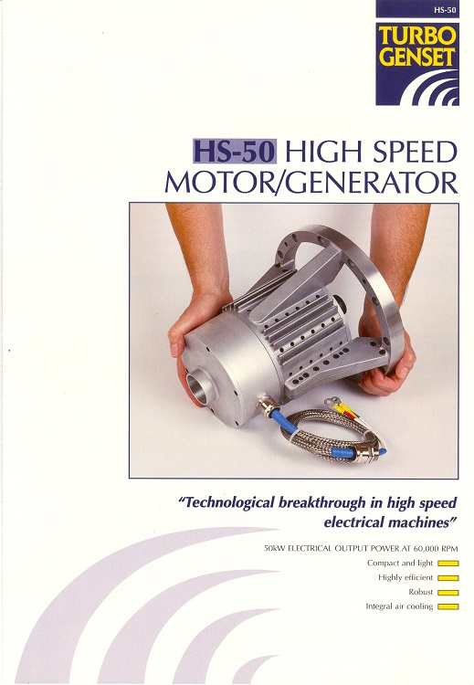 High Speed Motor Generator