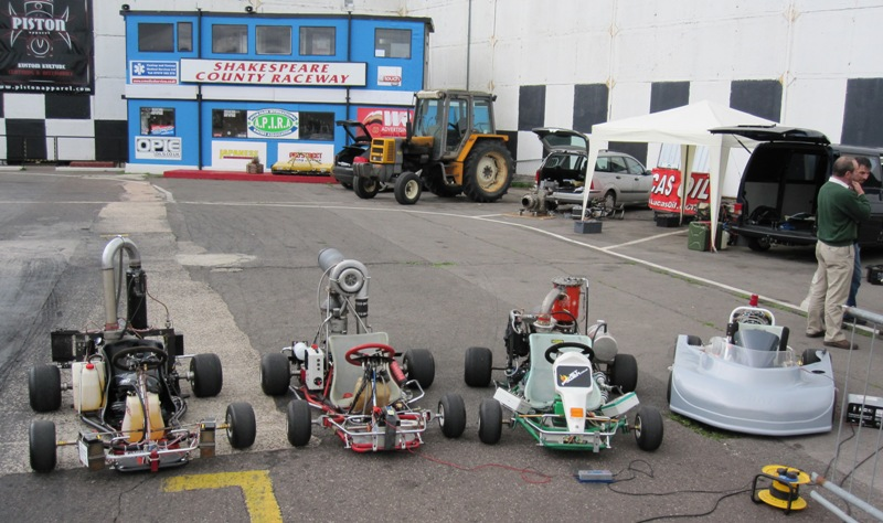 jet and microturbine powered go-karts at Shakespeare County Raceway