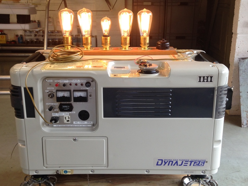 IHI Dynajet Portable Generator in operation