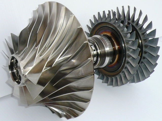 Magnificent Engineering Small Gas Turbine Rotor