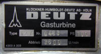 Deutz Gas Turbine