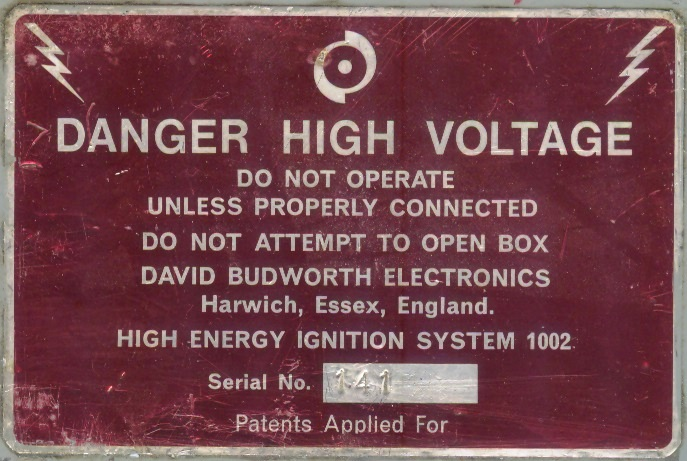 Danger High Voltage Gas Turbine Exciter