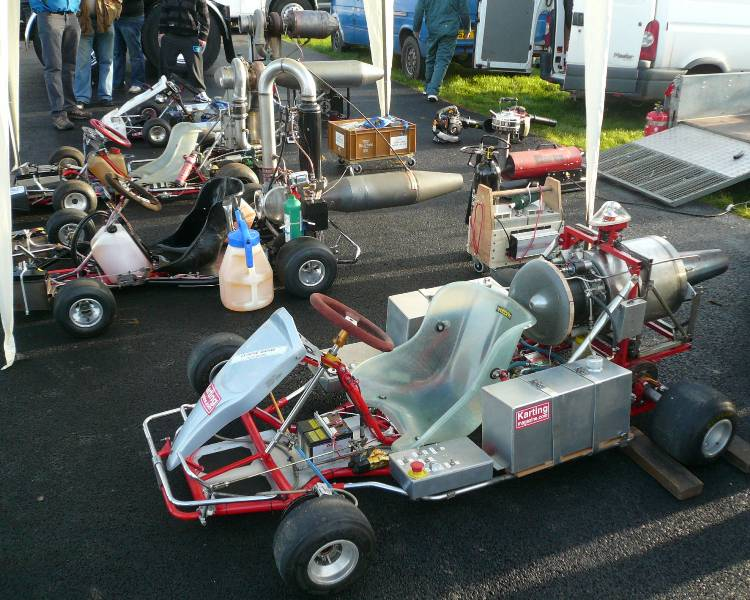 jet powered go-karts at Santapod